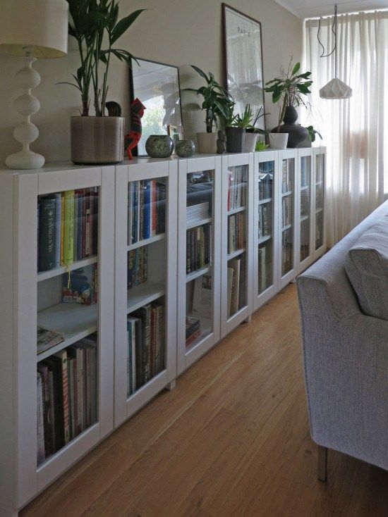 Ikea Hack Billy Bookcase As Long Sideboard Storage For