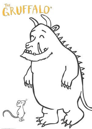 The gruffalo, Coloring pages and Coloring on Pinterest