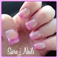 Pretty Pink Glitter Acrylic Nail Design | Nails By Me ...