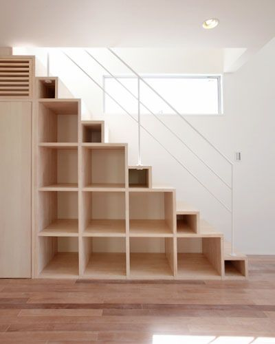 Storage Shelves Stairs