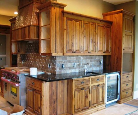 Cabinets In Cypress Wood With Hand Oil Finish Custom