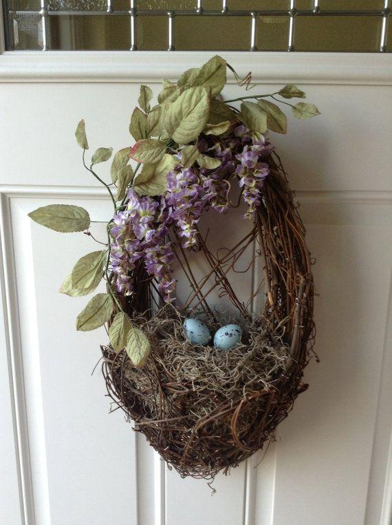 Birds Nest And Wisteria Spring And Summer Wreath Bird