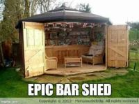 Epic bar shed | Ideas DIY | Pinterest | Backyards, Bar and ...