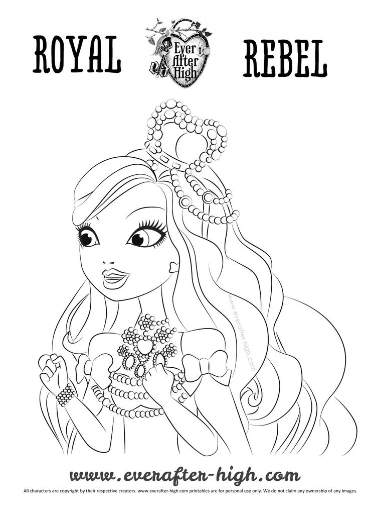 9 best Ever After High Free Coloring Pages images on Pinterest