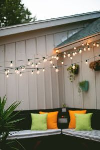 Check out these tips and hints for hanging string lights ...