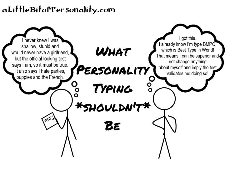 What Personality Typing *Shouldn't* Be ~ A Little Bit of