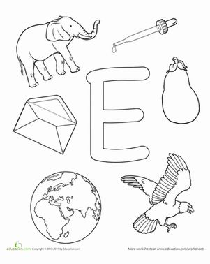 17 Best ideas about Letter E Worksheets 2017 on Pinterest