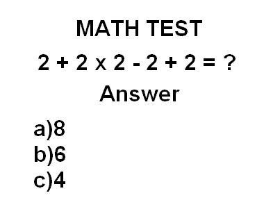 Smart enough to answer this math test? ;) #Challange