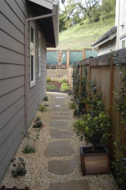 landscaping narrow side yard