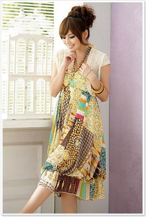 wholesale bohemian dress k8108 Yellow k8108 1200  Yuki Wholesale Clothing  Wholesale