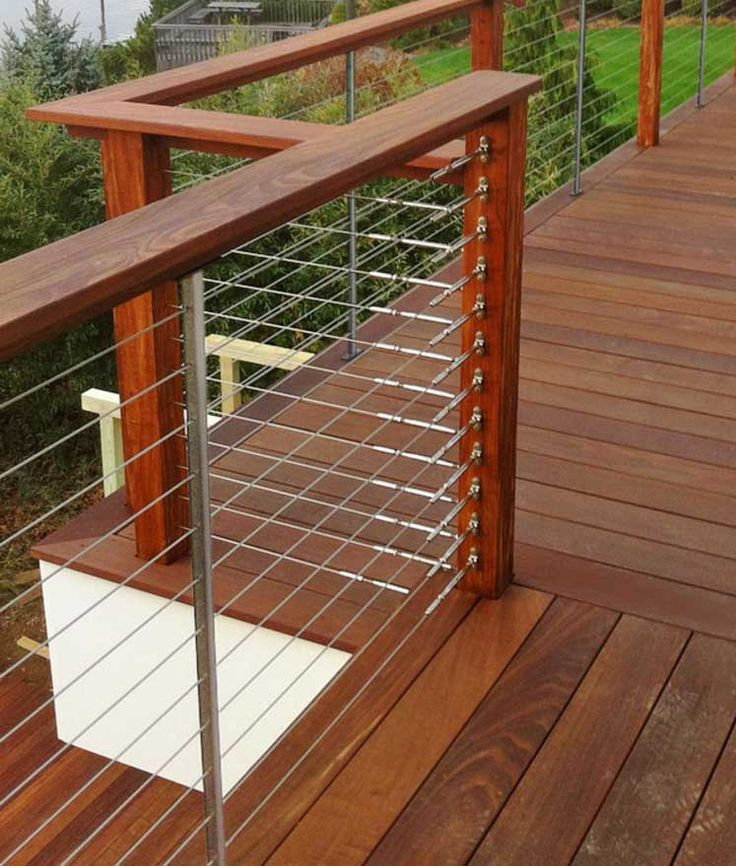 25+ best ideas about Wood deck railing on Pinterest