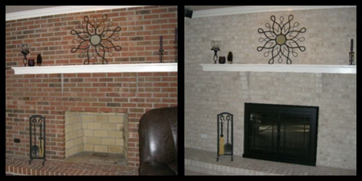 Red Brick Fireplace Makeover Brick-anew! Fireplace Makeover I Wonder How Hard This