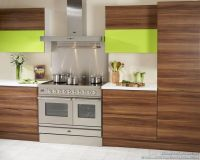 Exotic Wood Cabinets with Horizontal Grain ...