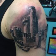 ideas castle tattoo
