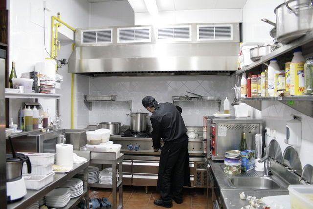 cocinas de restaurantes pequeos planos  Buscar con