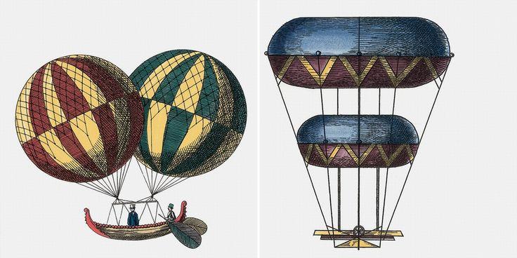 Ceramiche artistiche e piastrelle ceramica Design Piero Fornasetti Macchine volanti 1  Amo le