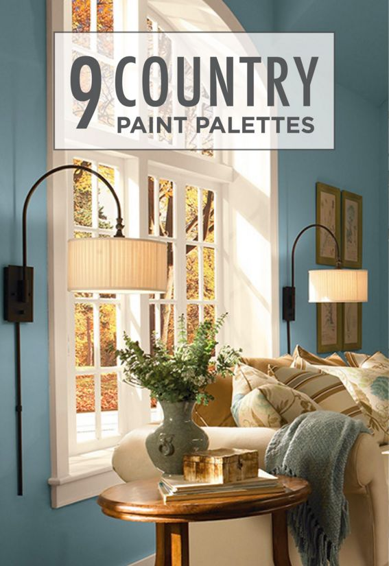 These 9 country paint palettes featuring cozy color