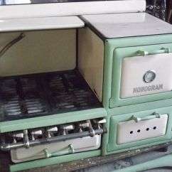 Vintage Kitchen Stoves Cabinets Orange County Monogram Cast Iron Porcelain Gas Stove | Monograms ...