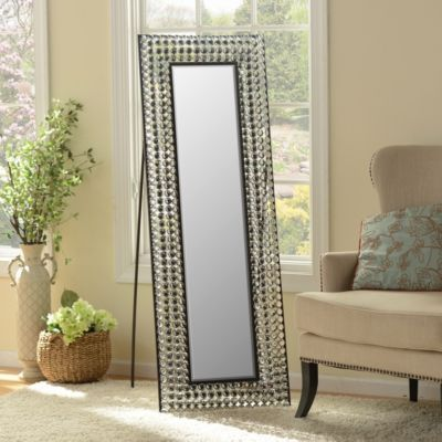 Crystal Bling Cheval Floor Mirror  Floor mirrors Metals