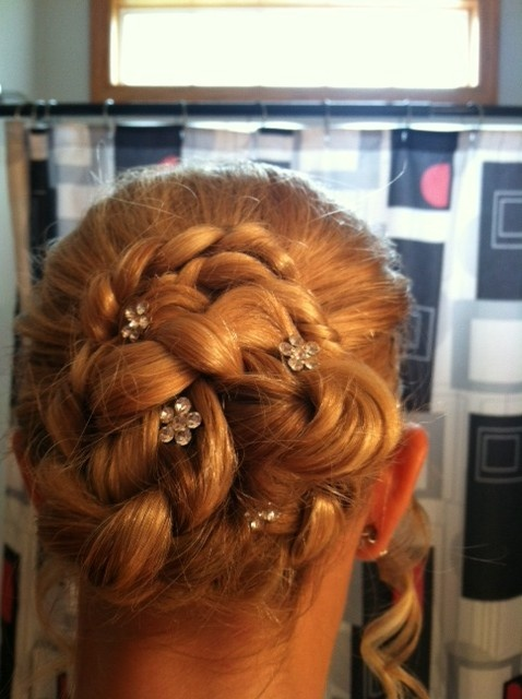 Just did Paiges hair for 8th grade promotioncalled a