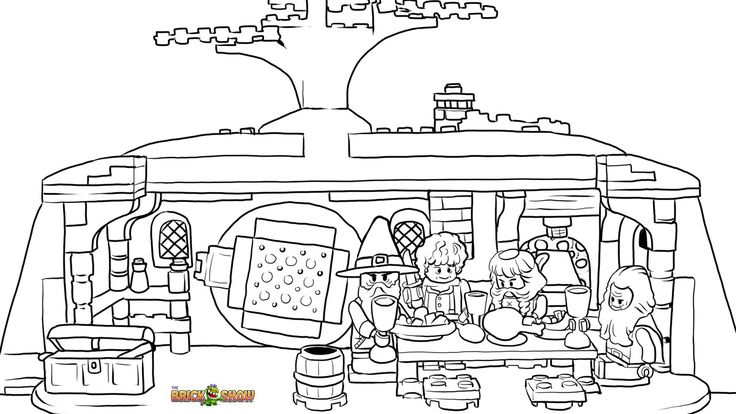 LEGO Hobbit Coloring Page, LEGO LEGO The Unexpected