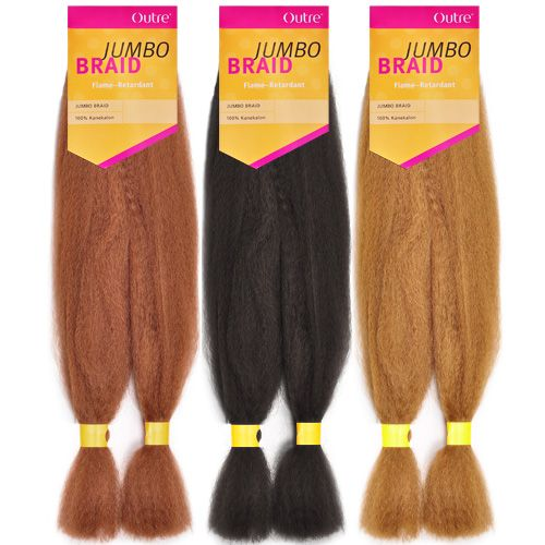OUTRE Synthetic Hair Braids Kanekalon Jumbo Braid
