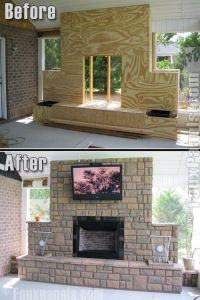 Outdoor fireplace | DIY Outside | Pinterest | Fireplaces ...