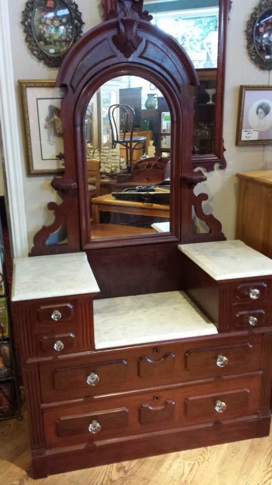 Eastlake Marble Top Dresser ONLY 895  Good Things Antiques  Furniture Salem  Pinterest