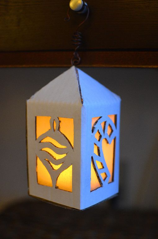 Cardboard Lantern Using A Battery Operated Tea Light Who