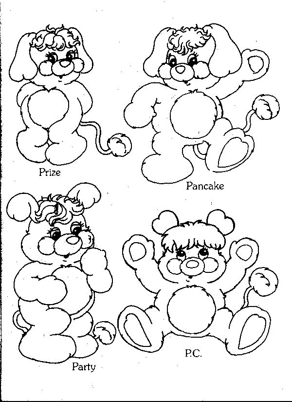 17+ images about Crafty (80's Popples) Coloring on