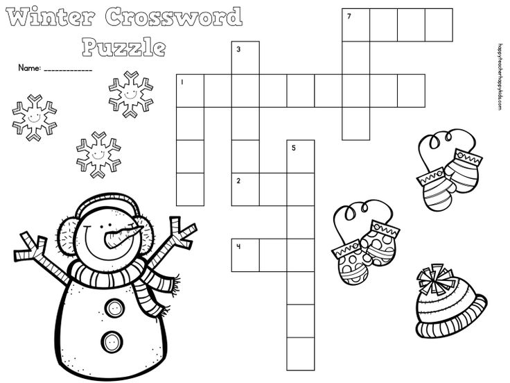 "Search Results for ""Winter Crossword Puzzle Printable 5th"