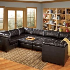 Home Theater Leather Sofa Chesterfield Manufacturers Uk San Marco 10 Piece U-shaped Sectional By Signature Design ...