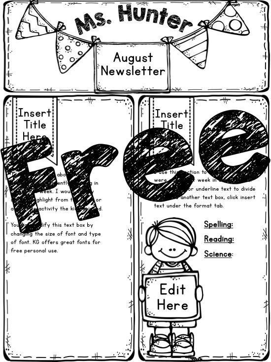 1000+ ideas about Preschool Newsletter on Pinterest