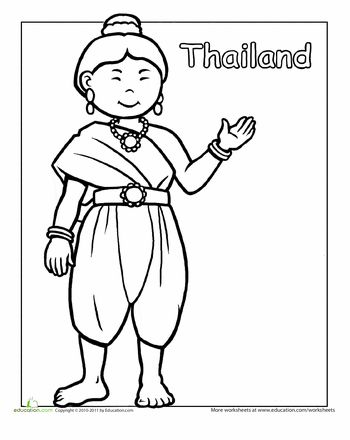 17 Best images about Thailand Coloring Pages on Pinterest