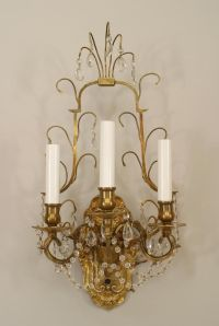 French Victorian lighting sconces bronze dore