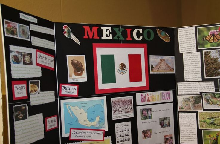Mexico Booth TriFold Display World Thinking Day  Mexico
