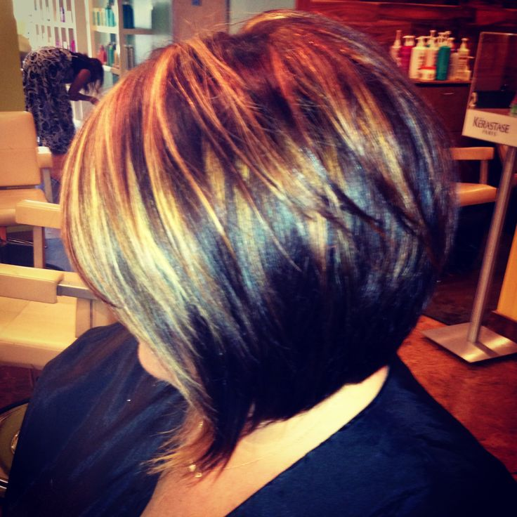 Angled Bob With Highlights By Stacey Rippy Hair And