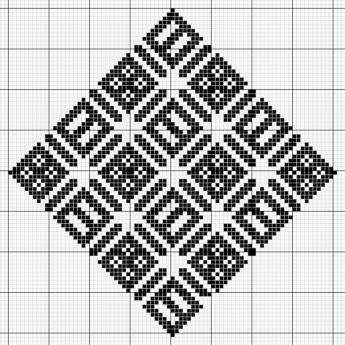 103 best images about Kogin & Pattern Darning on Pinterest