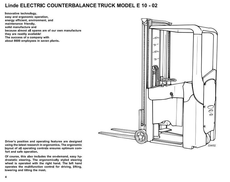 Linde Electric Forklift Truck Type 334-02: E10-02