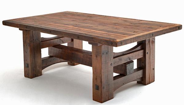 Heavy Timber Framed Table Base.