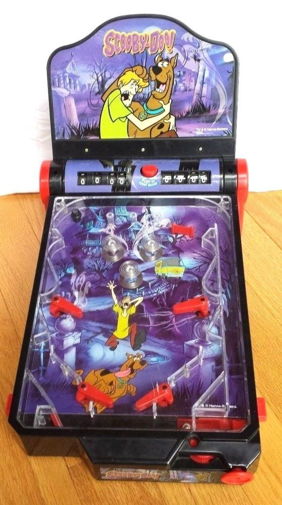 Scooby Doo Electronic PINBALL MACHINE Arcade toy game