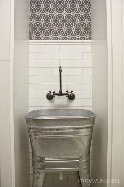 25 best ideas about Utility sink on Pinterest  Rustic bar faucets Laundry sinks and Small