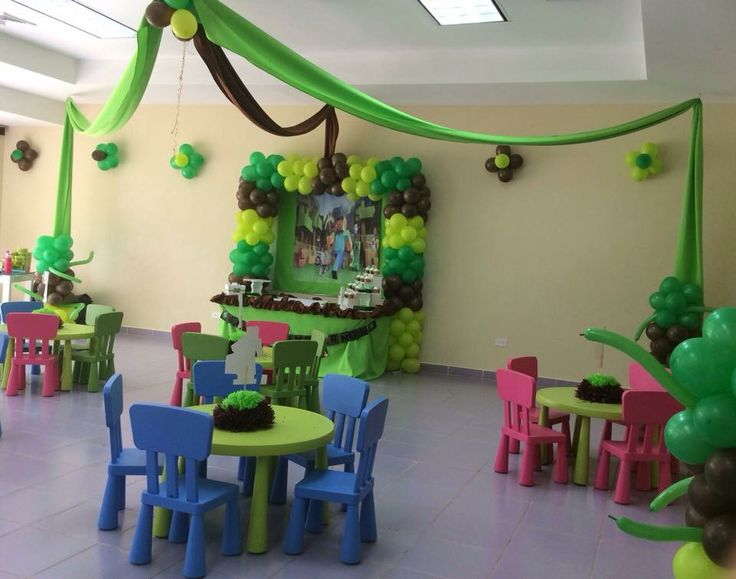 Fiesta infantil con tematica de Minecraft Managua