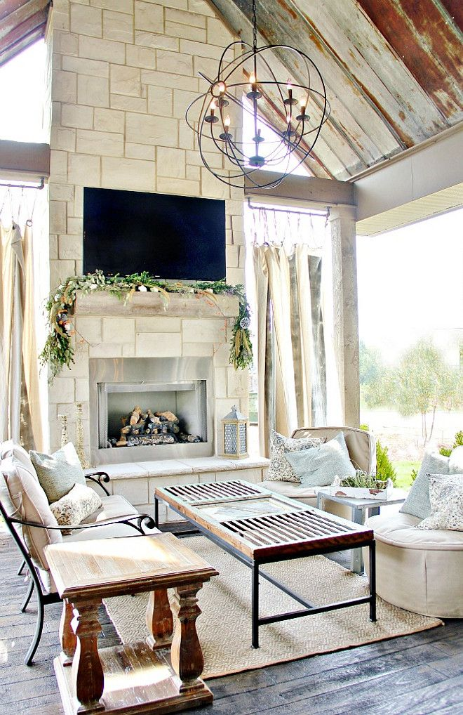 17 Best ideas about Farmhouse Fireplace on Pinterest