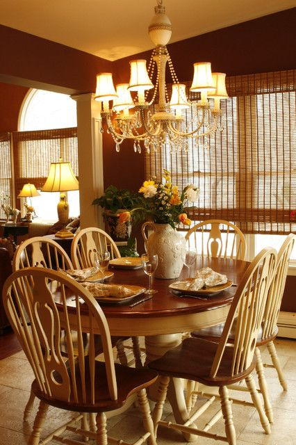 Yellow Black Amp White Dining Room Color With Red Seat