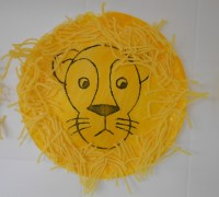 Lion face - paper plate and yarn | Craft and art ideas ...