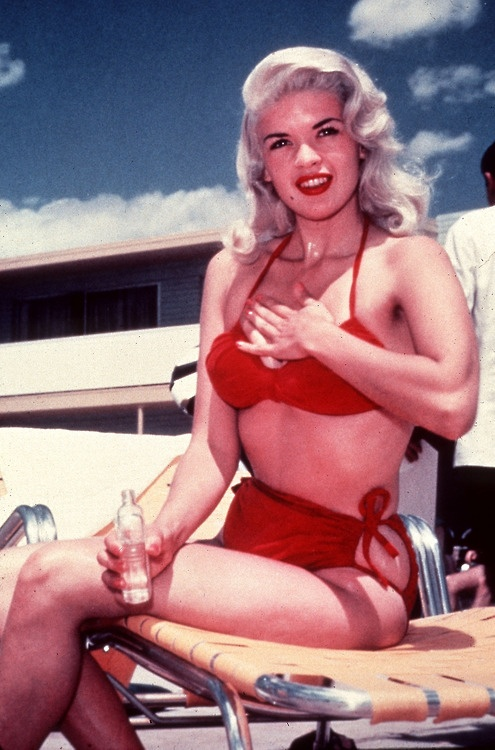 red bikini  jayne mansfield  Pinterest  Jayne mansfield Red bikini and Red