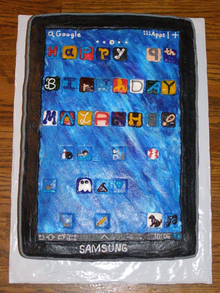 Samsung Galaxy Tablet Cake My Birthday Cakes Pinterest