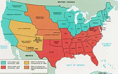 KansasNebraska Act ended the peace established between