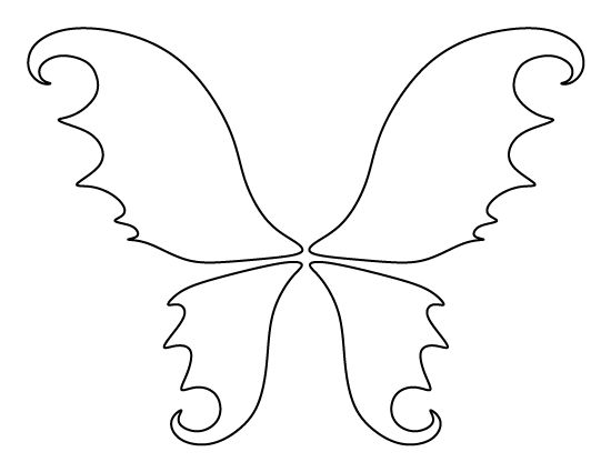 Fairy wings pattern. Use the printable outline for crafts